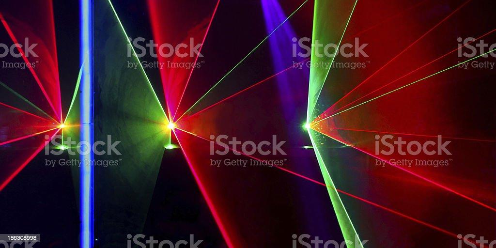 Laser beams in nightclub stock photo