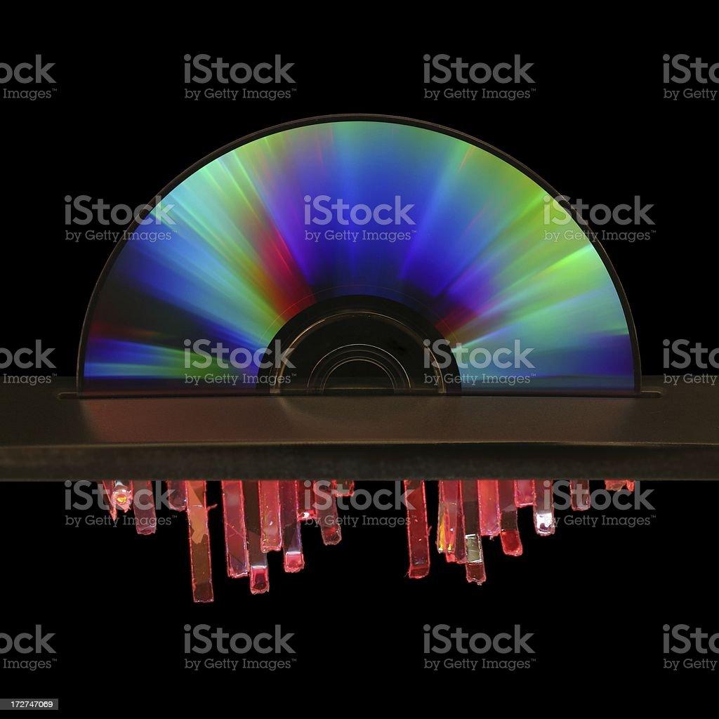 Laser CD Shredder stock photo