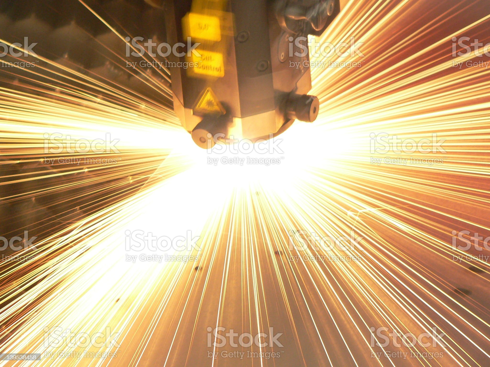 Laser close-up royalty-free stock photo
