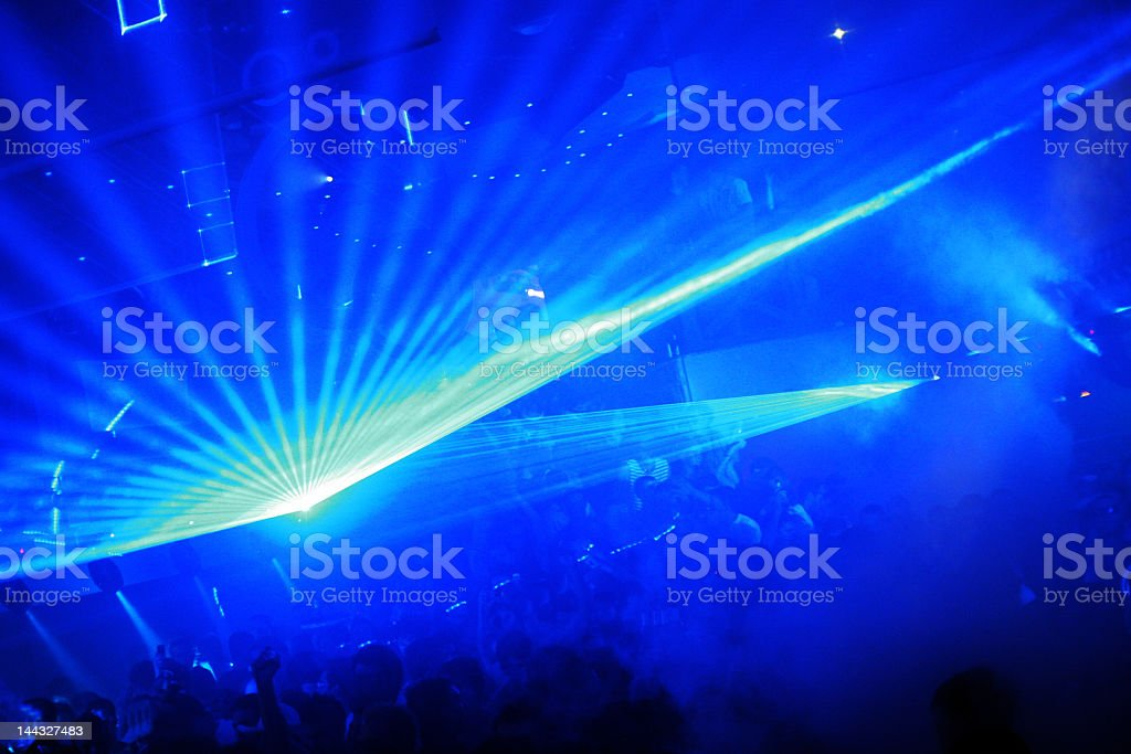 Laser Clubbing royalty-free stock photo