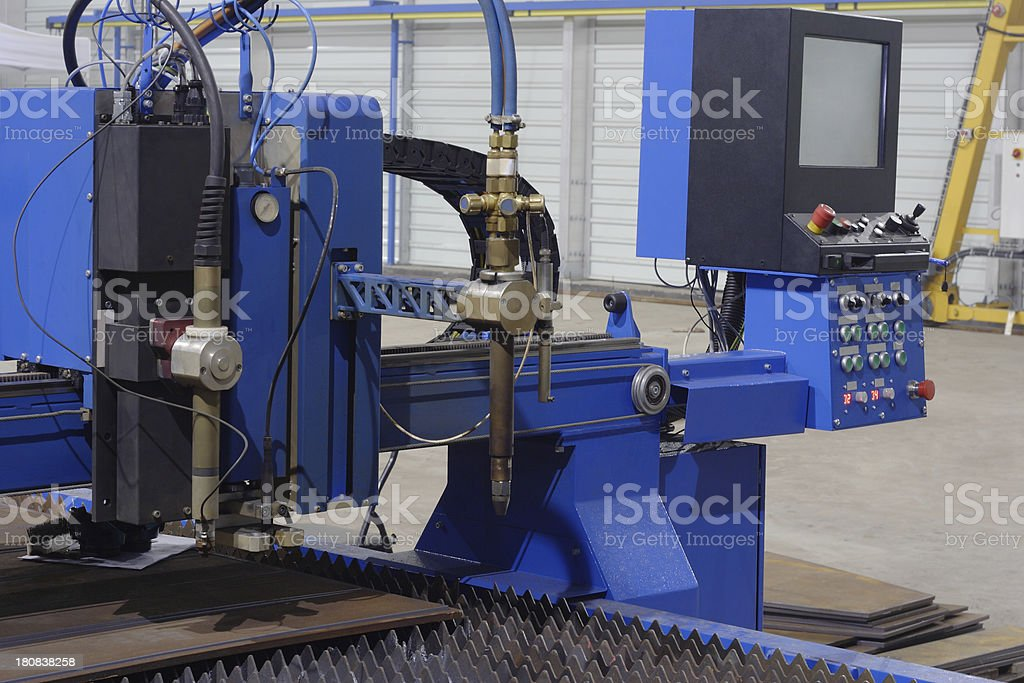 Laser cutter stock photo