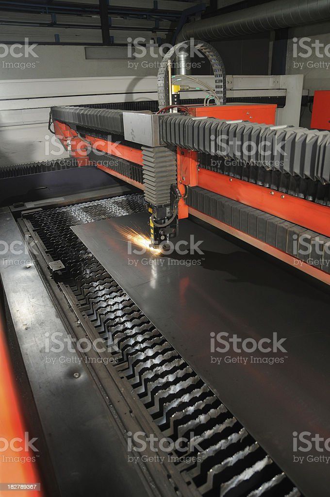 laser cutter stock photo