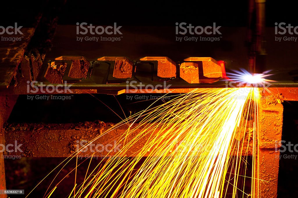 Laser Cutting stock photo