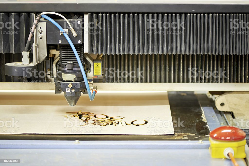 Laser engraving stock photo