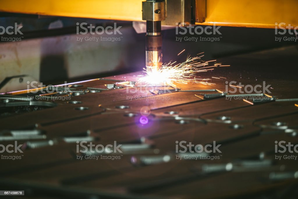 Laser equipment management and plant manufacturing metal structures...