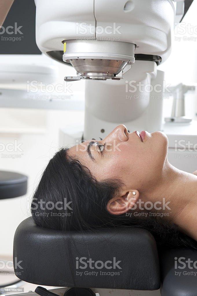 Laser eye surgery stock photo