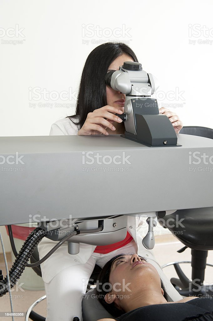 Laser eye surgery royalty-free stock photo