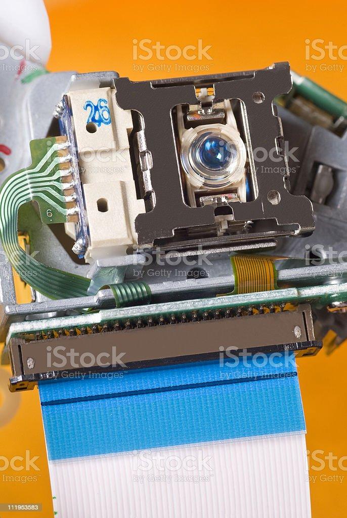 Laser from DVD / CD Burner stock photo