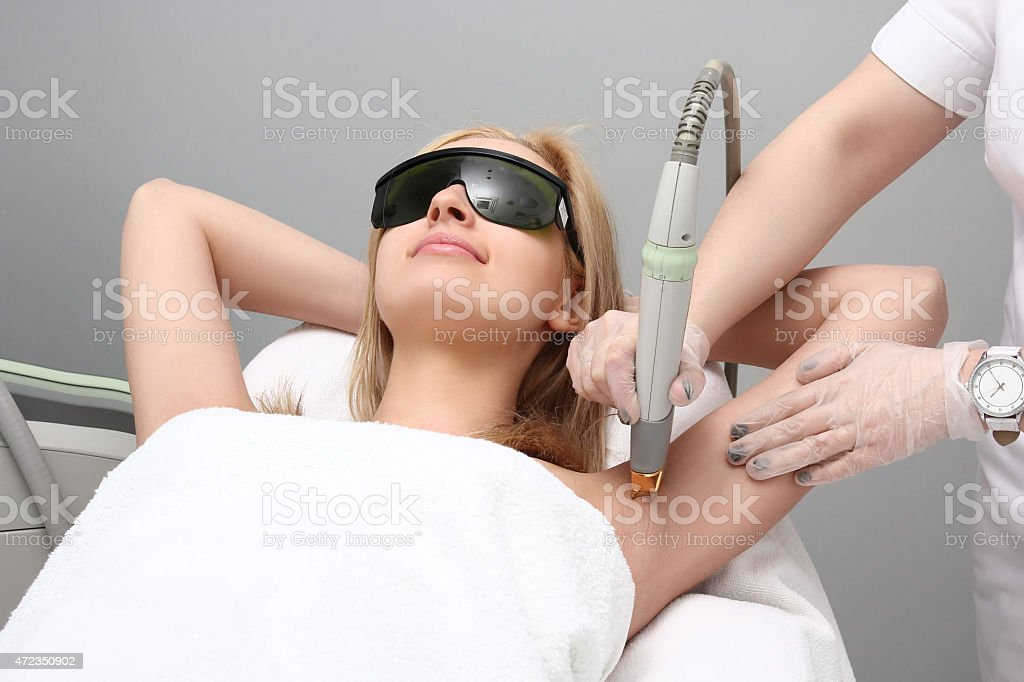 Laser hair removal epilation. royalty-free stock photo