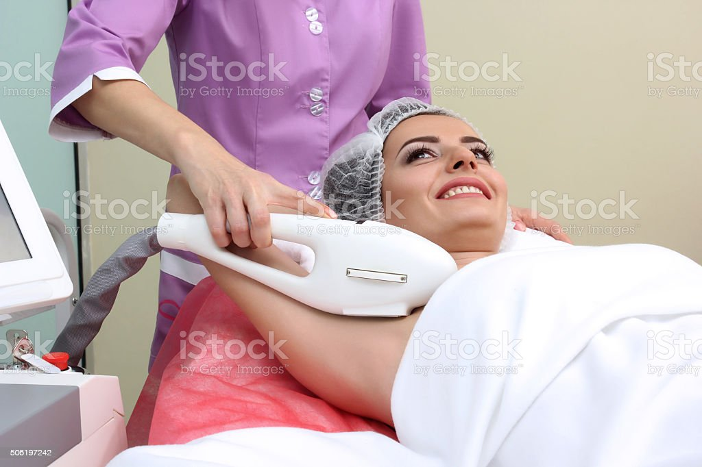 Laser hair removal epilation royalty-free stock photo