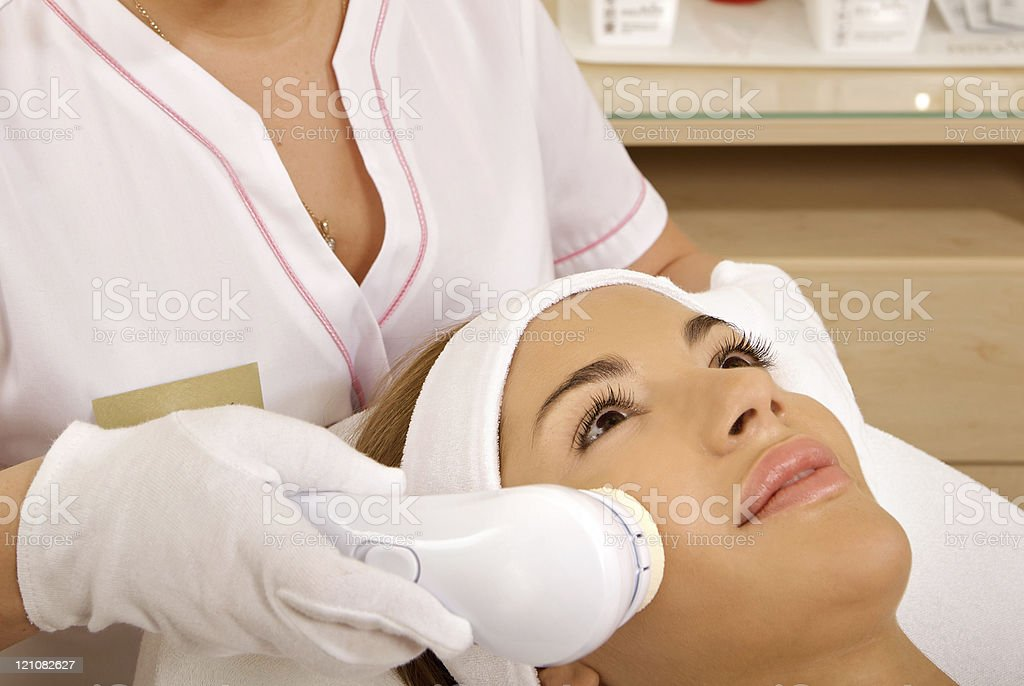 Laser hair removal in professional studio. royalty-free stock photo
