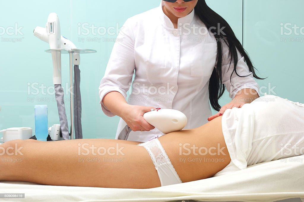 Laser hair removal on ladies body royalty-free stock photo