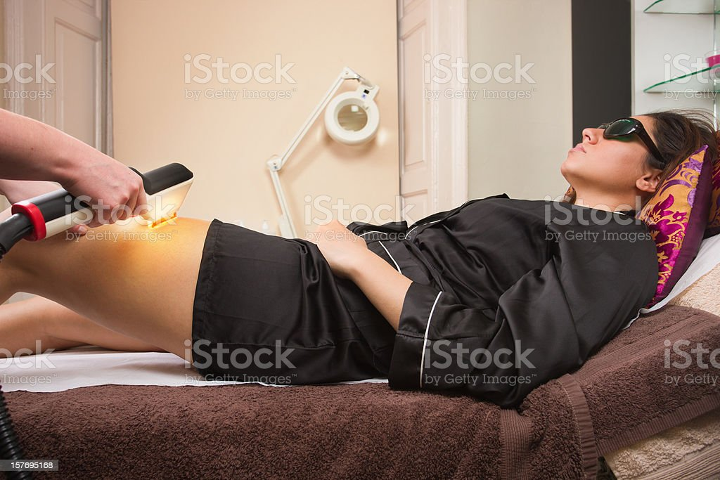 Laser hair removal stock photo