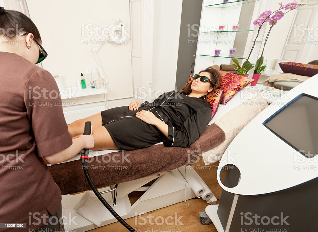 Laser hair removal royalty-free stock photo