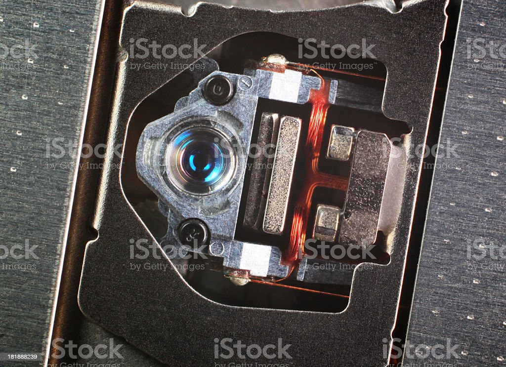 Laser head of DVD Drive royalty-free stock photo