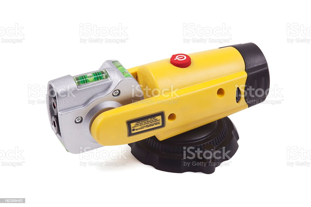 Laser Level (Clipping Path) stock photo