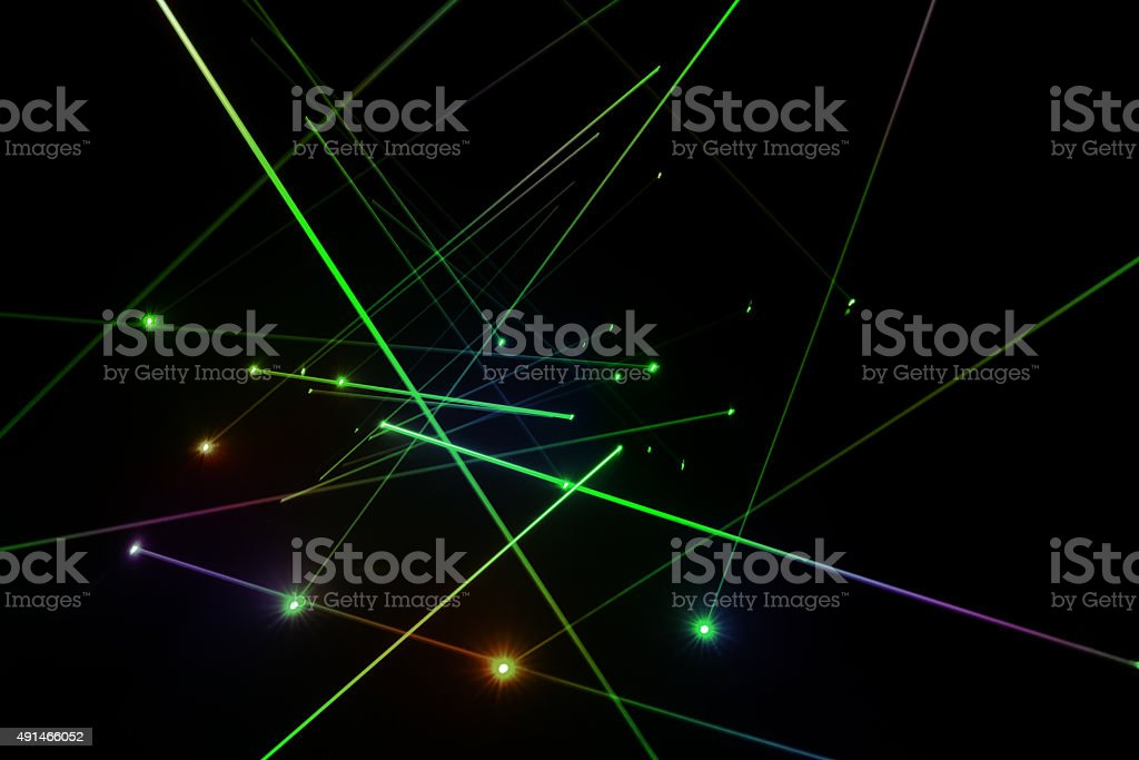 Laser lighting stock photo