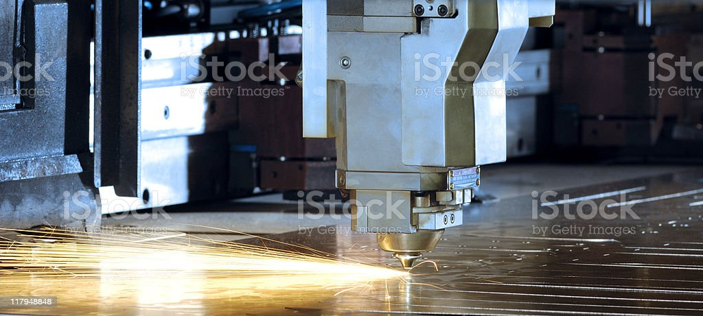 CNC Laser metal cutting head royalty-free stock photo