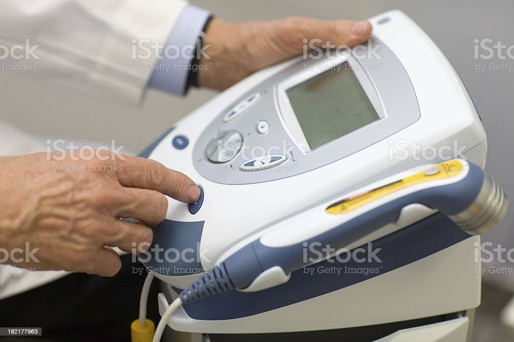 Laser Physical Therapy Equipment stock photo
