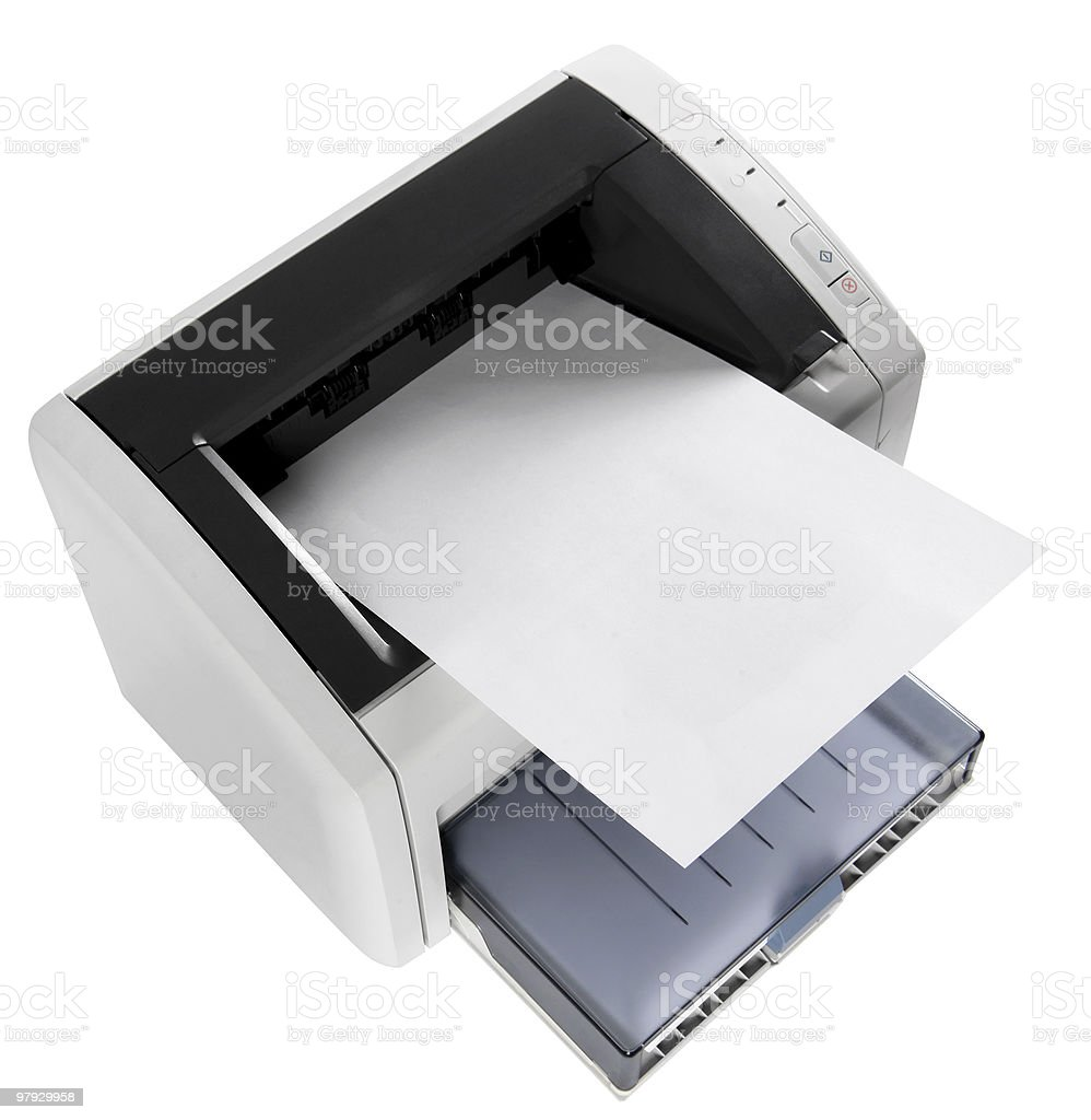 Laser printer royalty-free stock photo