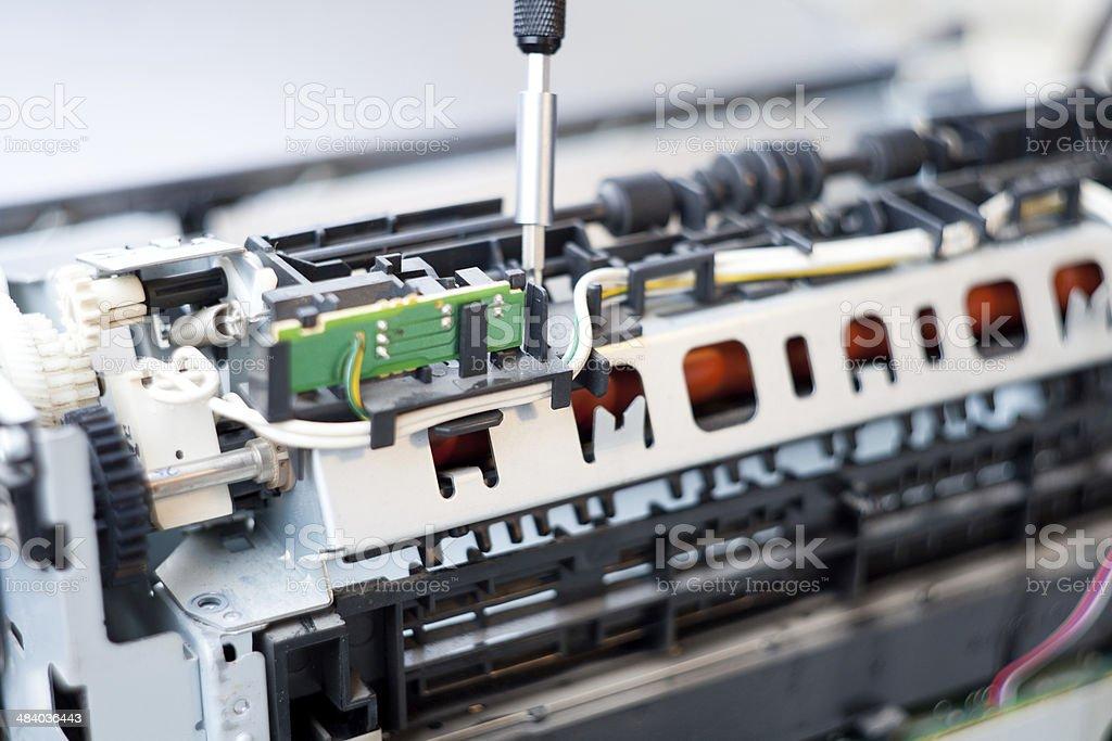 Laser Printer Repair stock photo