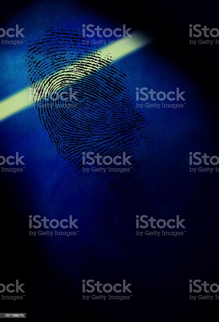 Laser Shining on a Fingerprint royalty-free stock photo