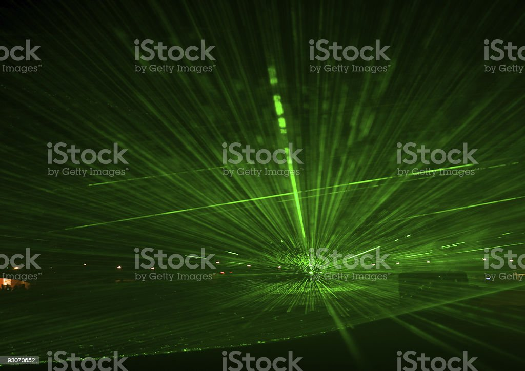 Laser show stock photo