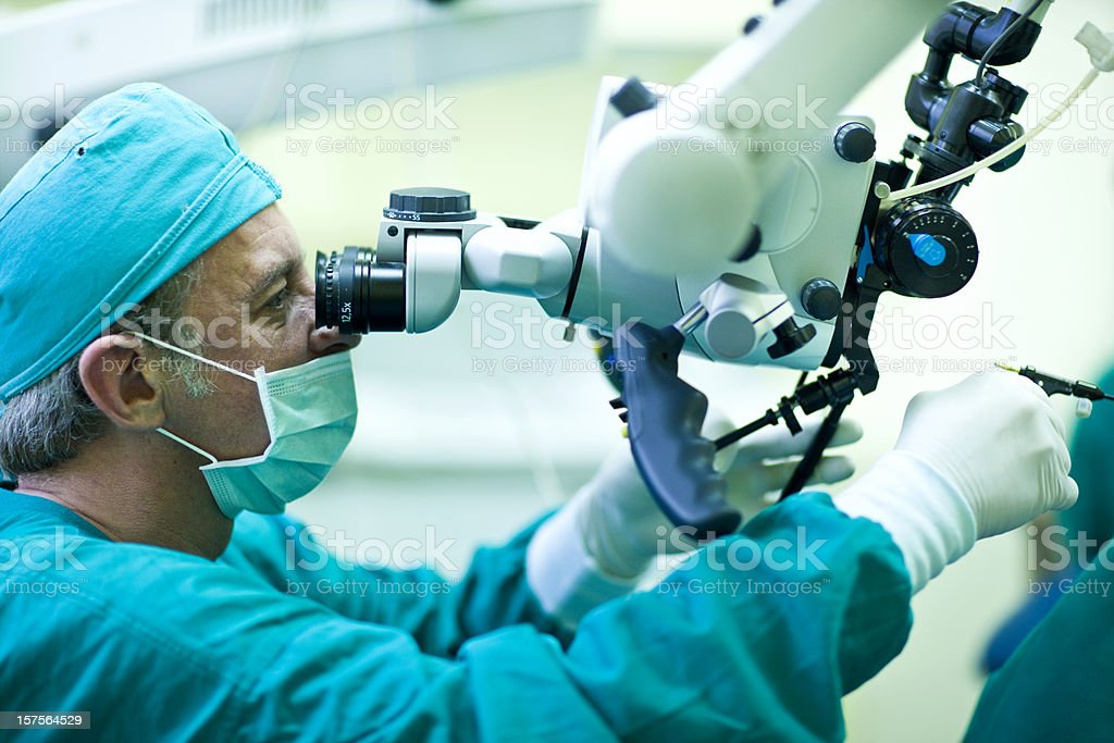 Laser surgery stock photo