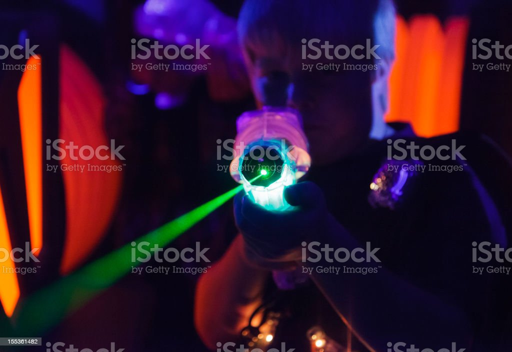 Laser Tag stock photo