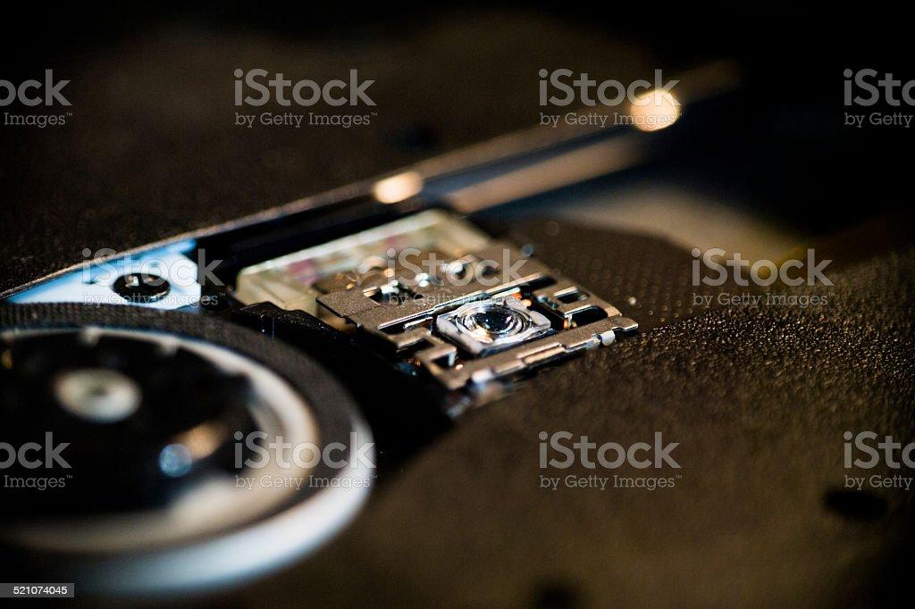CD laser technology stock photo