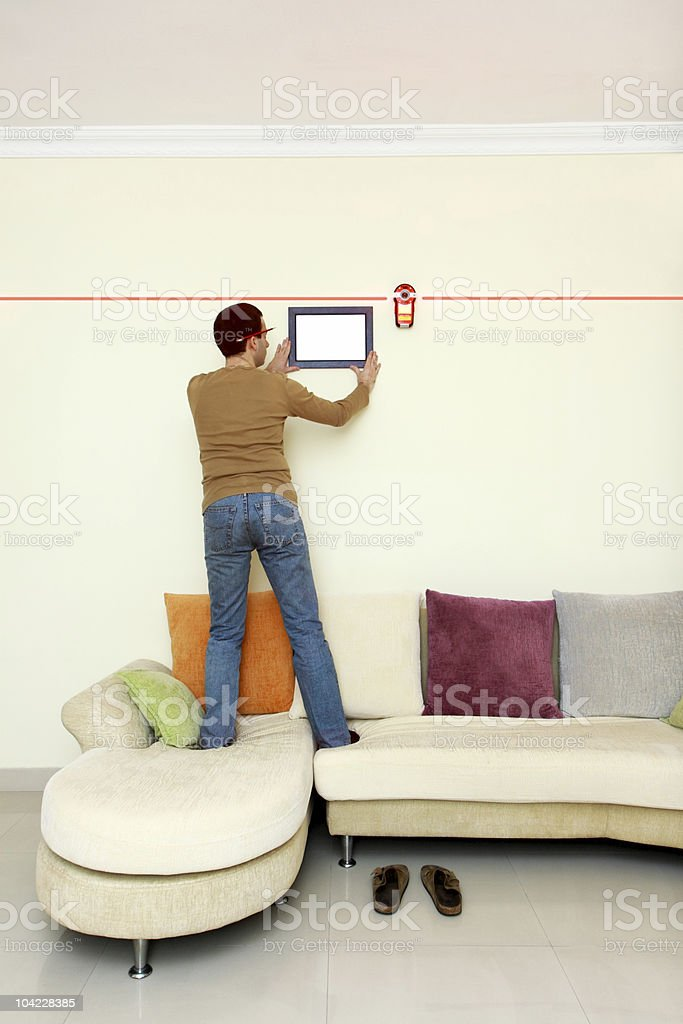 DIY: Laser-Level (series) royalty-free stock photo