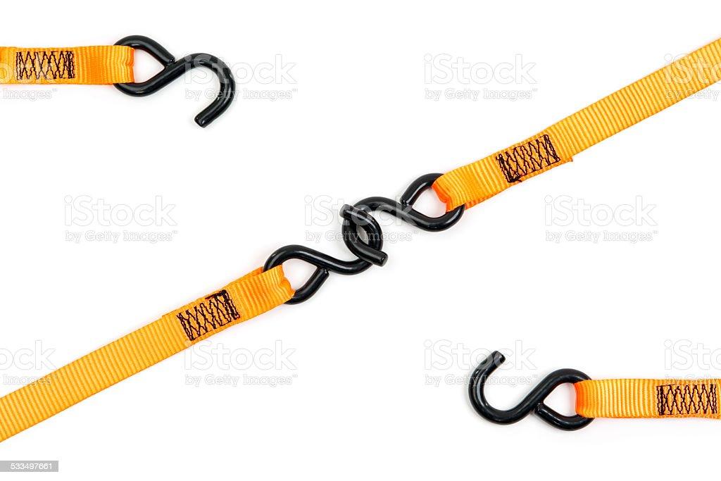Lashing Strap Hooks stock photo