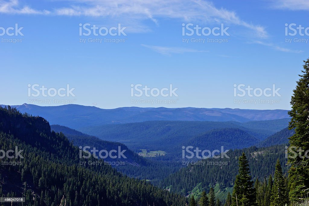 Lassen National Forest View stock photo