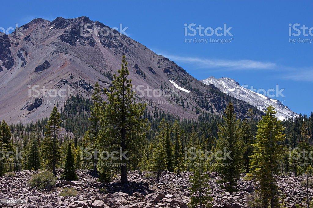 Lassen Peak Chaos stock photo