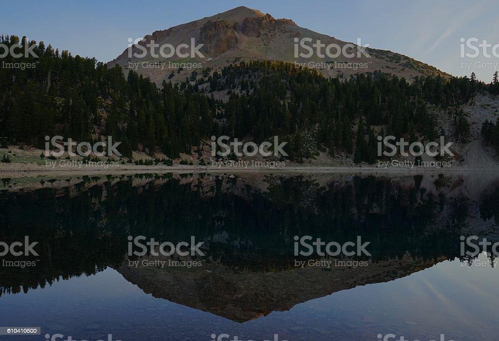 Lassen Peak Double stock photo