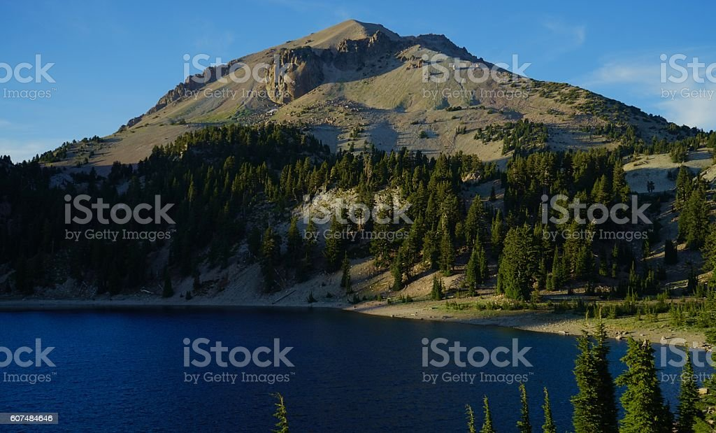 Lassen Peak Evening stock photo