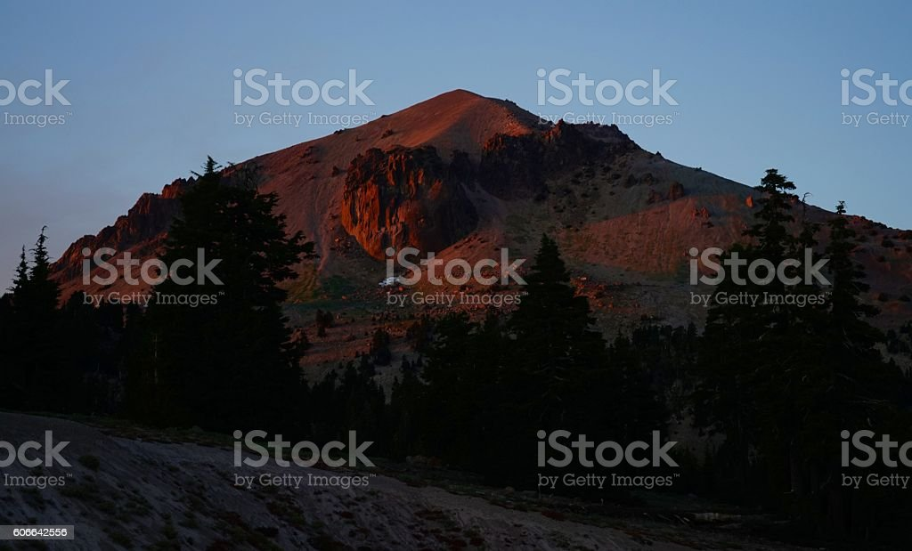 Lassen Peak Fire stock photo