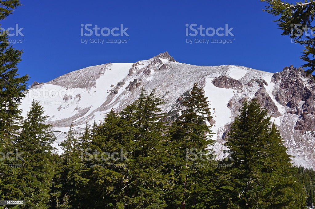Lassen Peak Frame stock photo