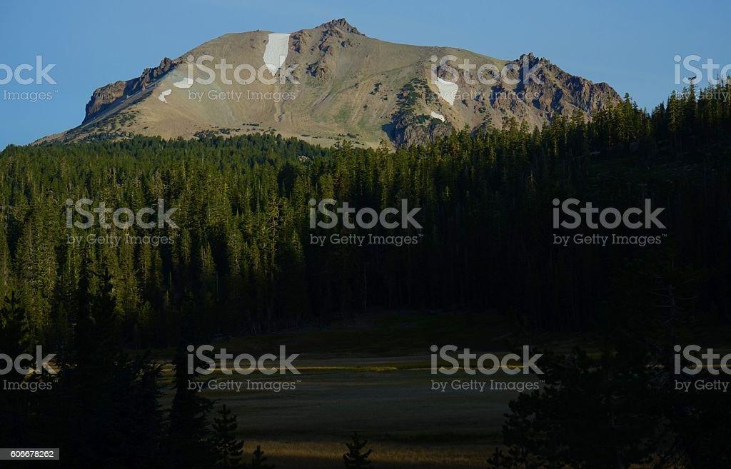 Lassen Peak High Light stock photo