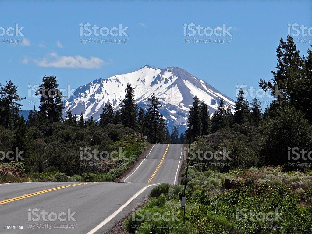 Lassen Peak Highway stock photo