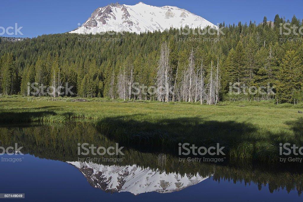 Lassen Peak Mirror stock photo