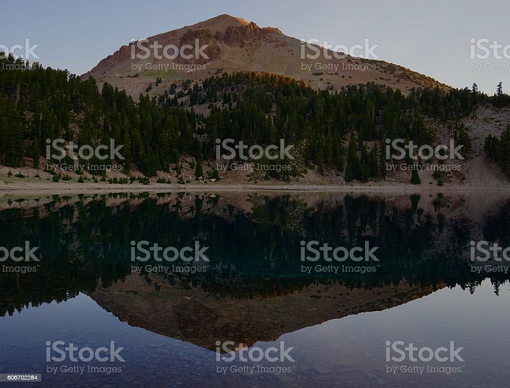 Lassen Peak Mirror stock photo