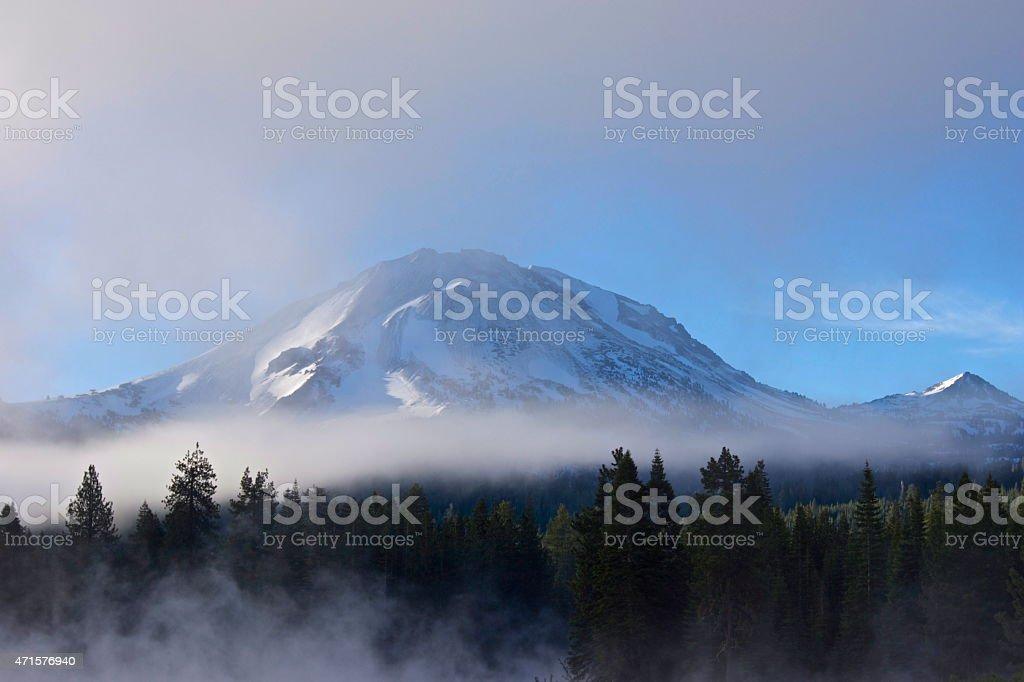 Lassen Peak Mystic stock photo