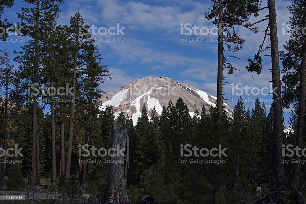 Lassen Peak Rare View stock photo