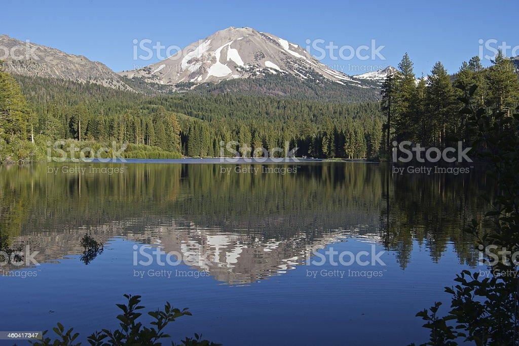 Lassen Peak Reflection stock photo