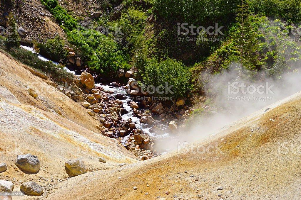 Lassen Thermal Creek stock photo