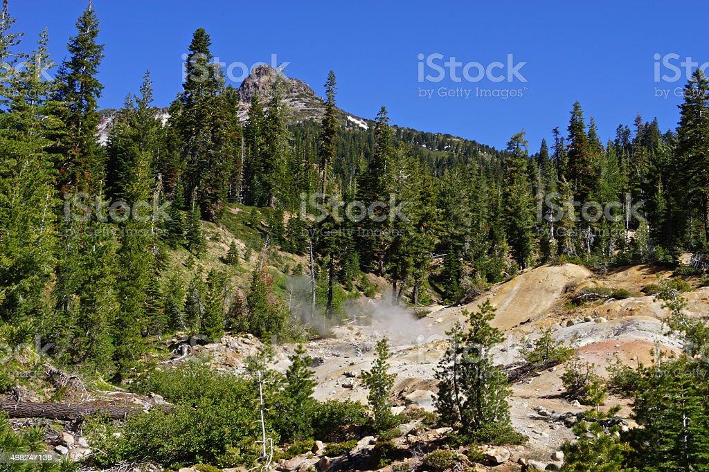 Lassen Thermal Hillside stock photo