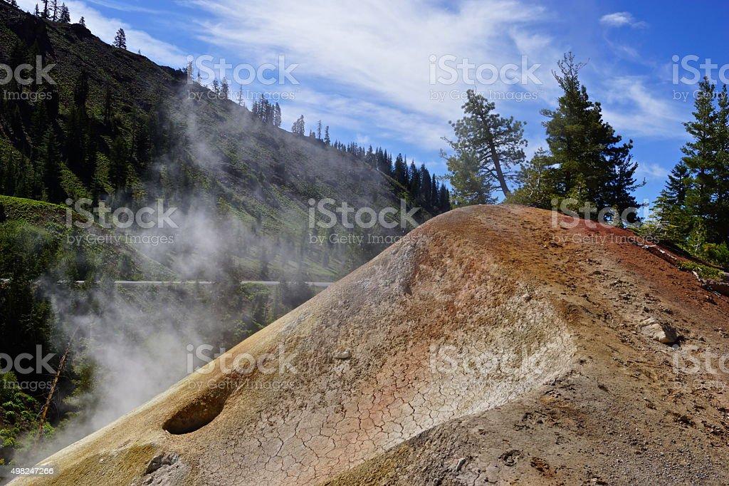 Lassen Thermal Mound stock photo