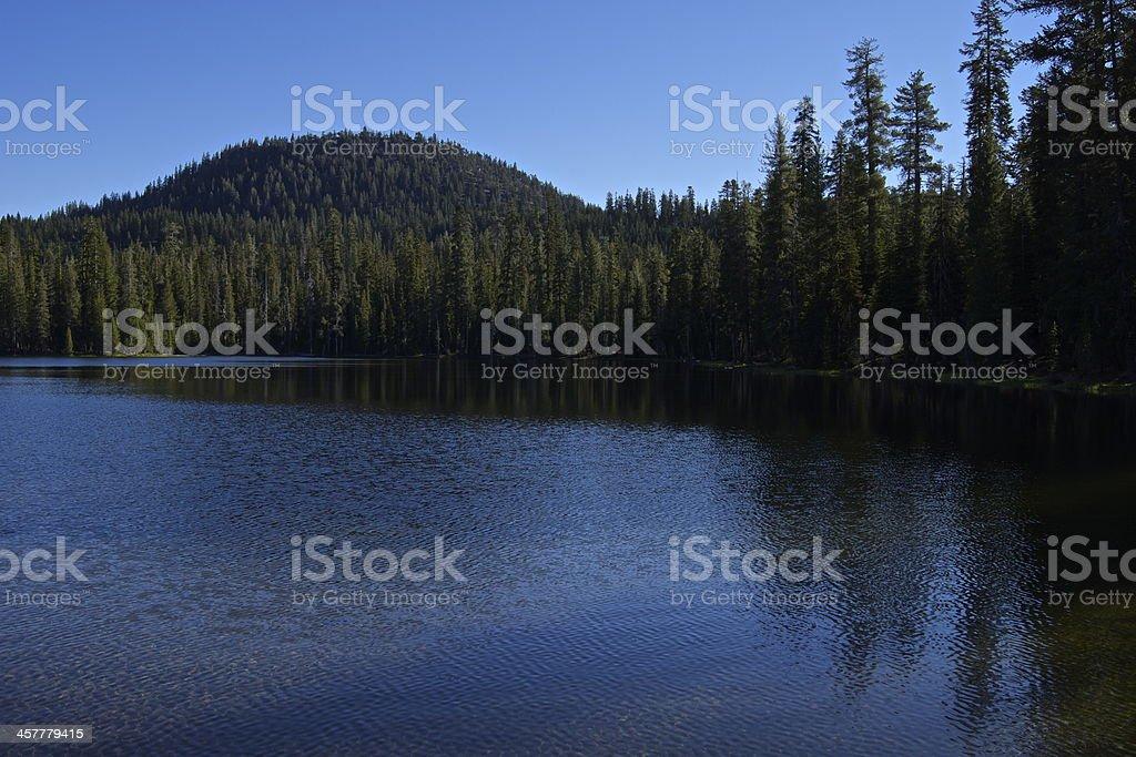 Lassen Volcanic Lake stock photo