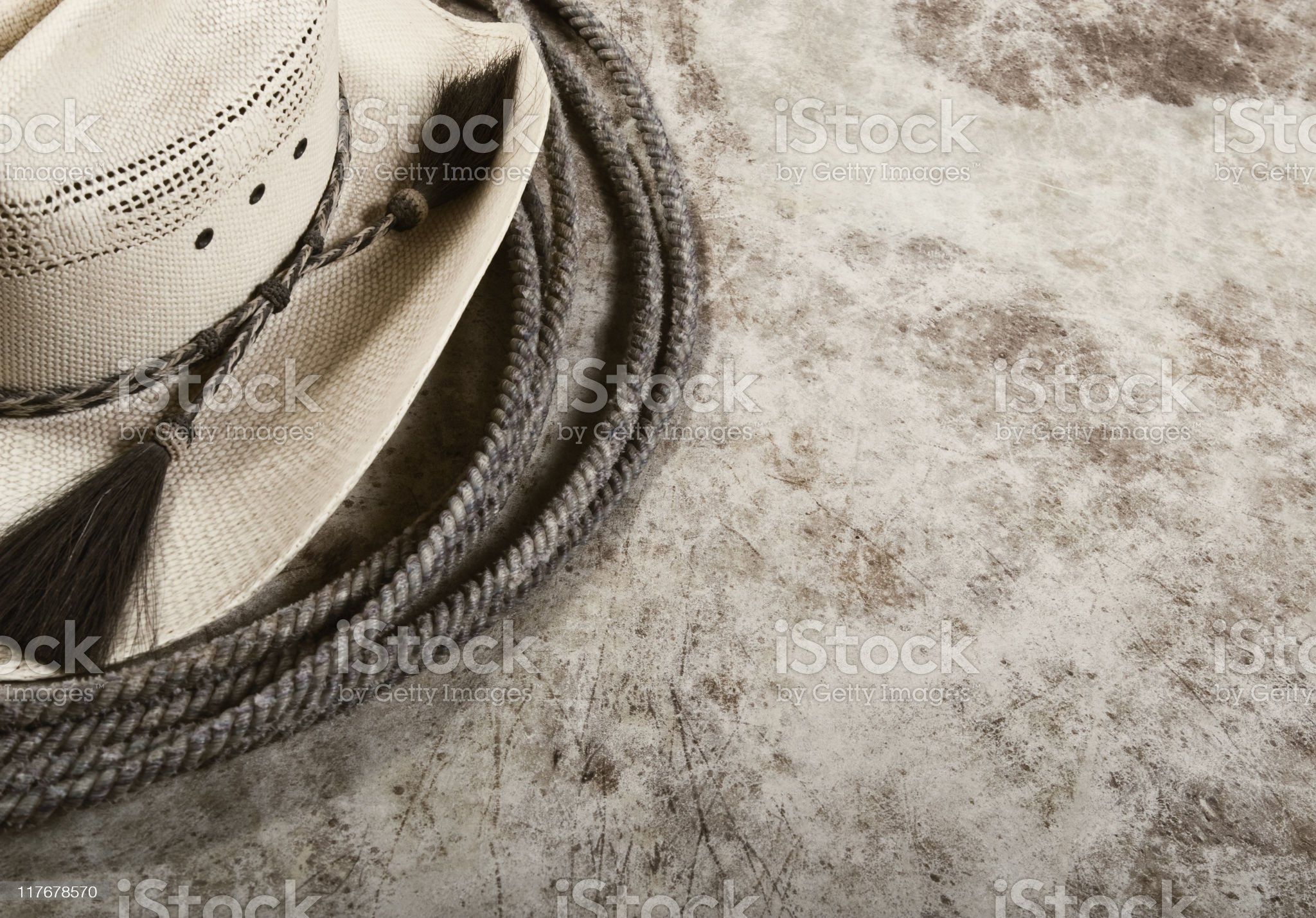 Lasso and Cowboy Hat royalty-free stock photo